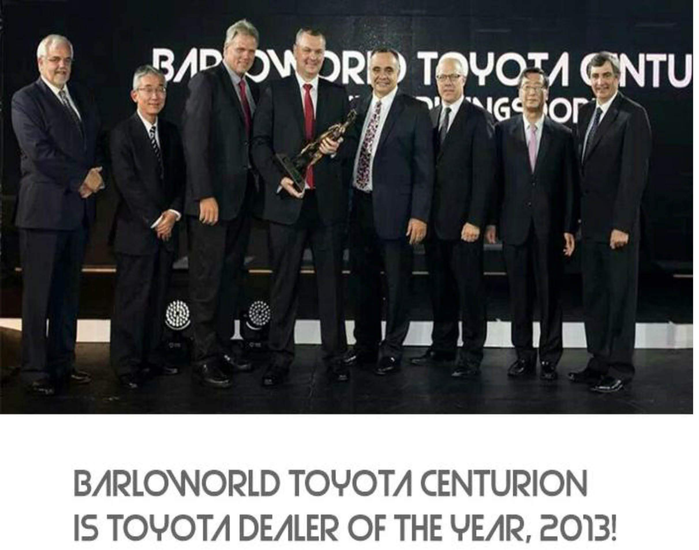 Barloworld Toyota Centurion Dealer of the year