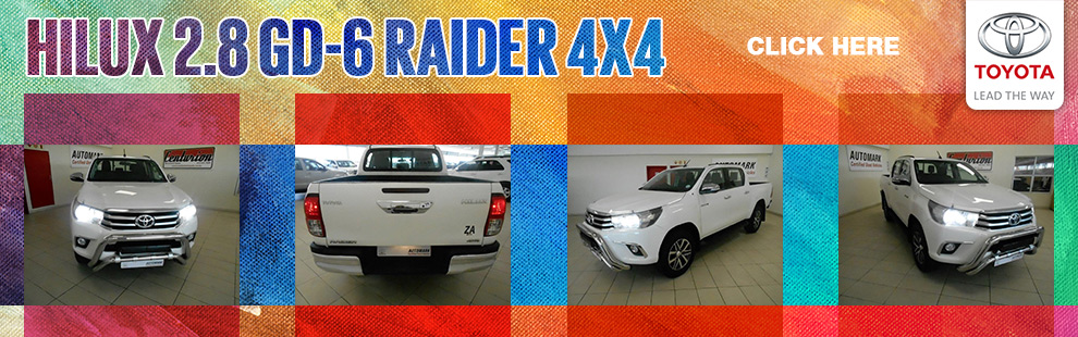 Get This 2016 Toyota Hilux 2 8 Gd 6 Raider 4x4 P U D C For Only R 459 950 Barloworld Toyota